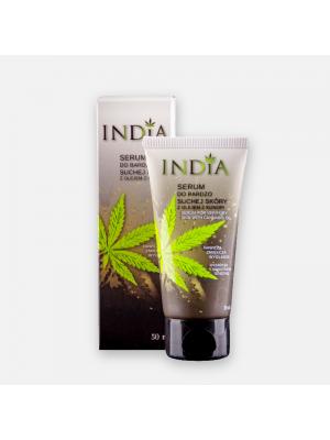 Serum do bardzo suchej skóry twarzy i dłoni z olejem konopnym INDIA